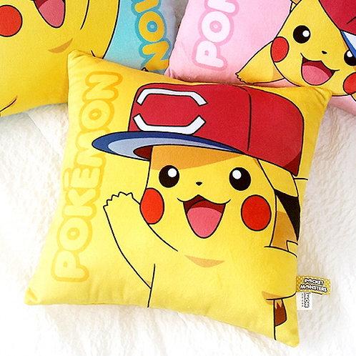 Pokemon Square Nap Cushion - Pikachu W/ Cap