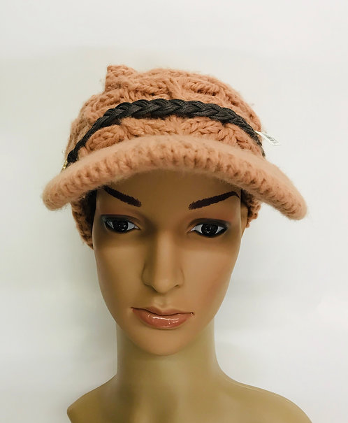 Knitting Winter Hat With Cap