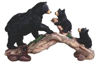 """11 3/4"""" Wide, Bear W/ Cubs on Bridge"""