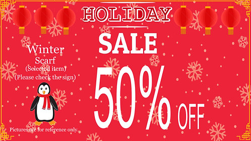 50% Off For Selected Winter Scarf