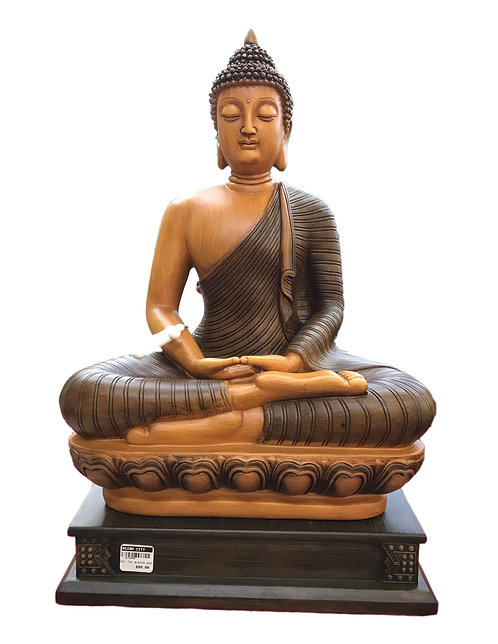 "22"" Wooden Color Thai Buddha"