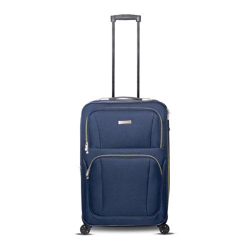 """24"""" 4 Wheels Fabric Luggage Blue"""