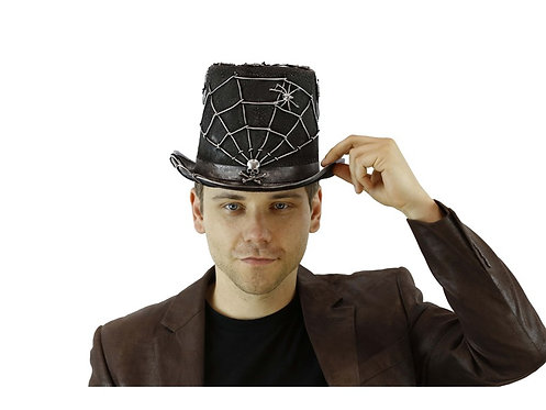 Hat With Spider Web Silver