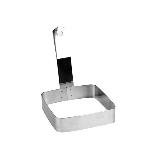"""4""""x4"""", Square Egg Ring, Stainless Steel"""