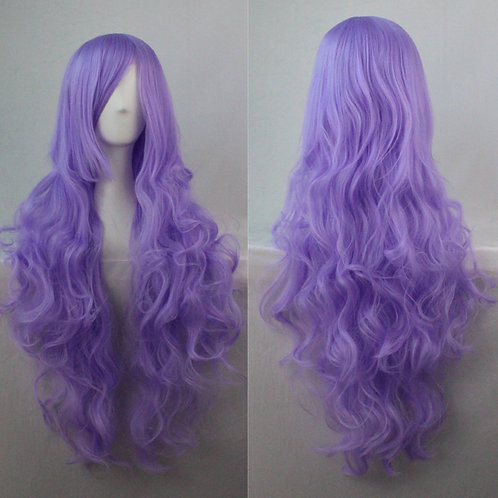 Violet Curly Synthetic Long