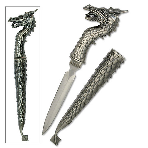 "12"" Overall Fantasy Dragon Knife"