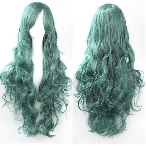 Turquoise Curly Synthetic Long