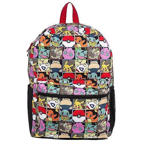 "16"", Pokemon Checkered Backpack"
