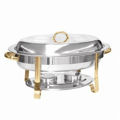 6QT Gold Oval Chafer