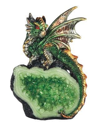 "4"", Green Dragon on Crystal"