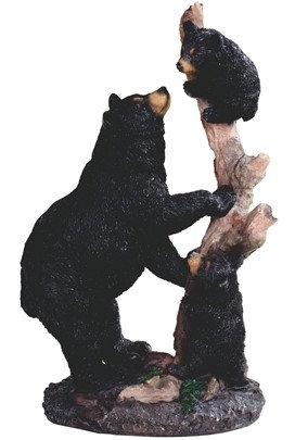 "10 3/4"", Bear W/ Cubs on Tree"