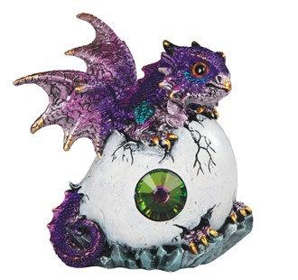 "Purple Dragon in Egg , 5"" high"