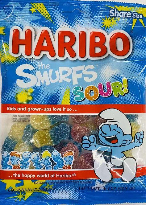 4oz Haribo Smurfs Sour Gummy
