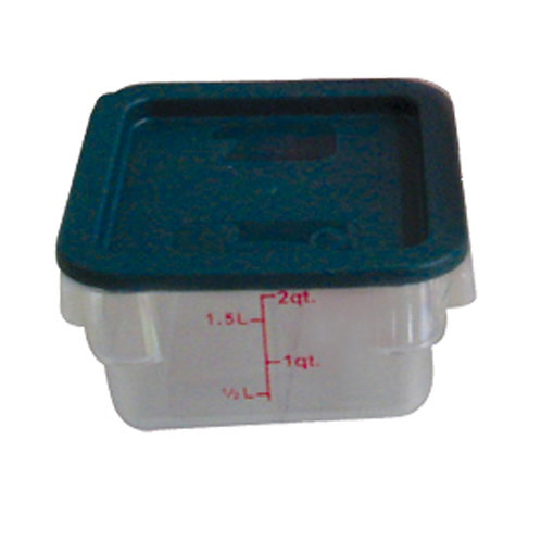 2QT Polycarbonate Square Food Storage Containers, Clear