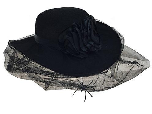 Black Silk Hat With Black Veil