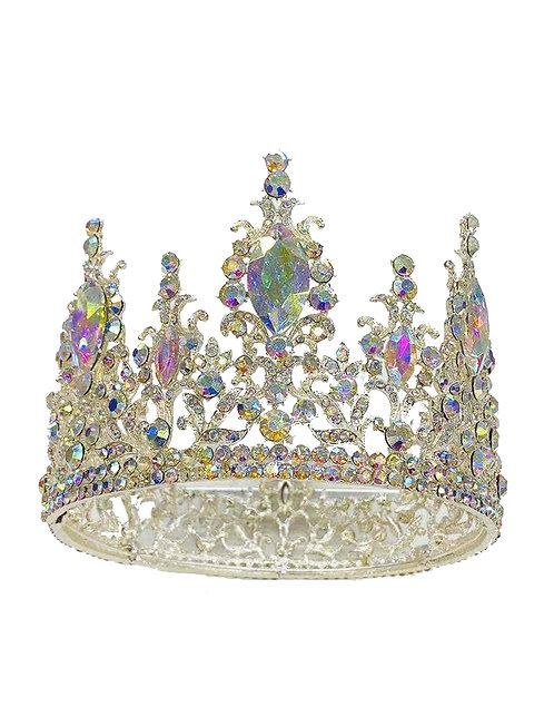 Tiara Silver Rhinestones & Colorful Crystal No.#3