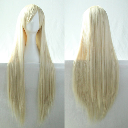 Blonde Straight Wig Synthetic Long