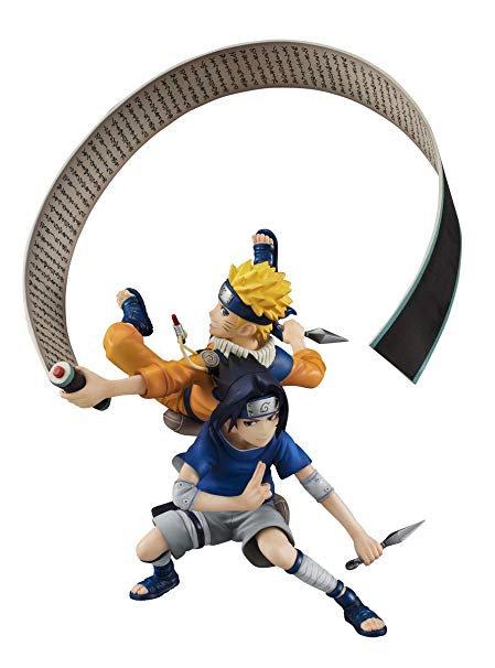 16cm Naruto Shippuden Naruto & Sasuke With Kunai Shurike Figure