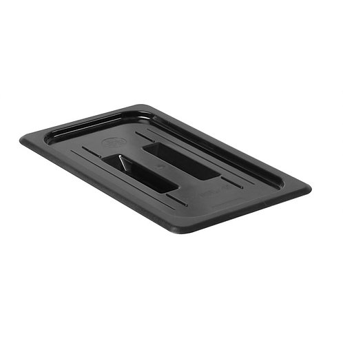 Third Size Solid Cover For Polycarbonate Food Pan, Black