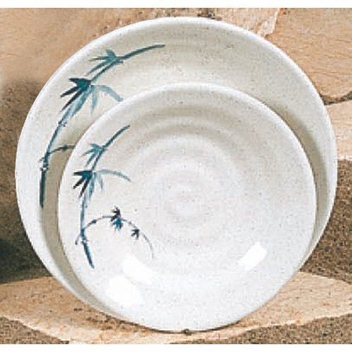 "5 1/8"" , Blue Bamboo Soup Bowl"