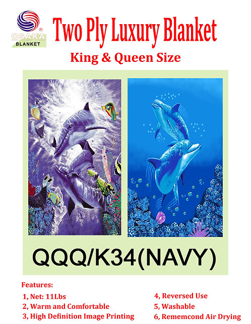 Two Ply Luxury Blanket (King Size)