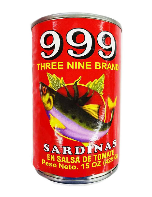 15oz 999 Tall Sardines Tomato Sauce