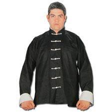 Uniform Black Kung Fu  Uniform White Button