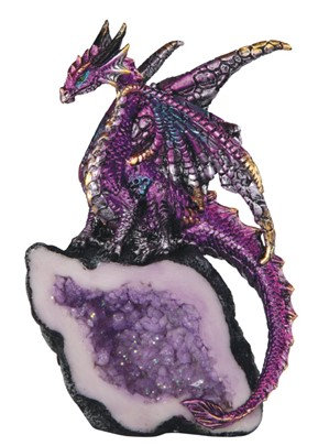 """5 1/2"""", Purple Dragon on Crystal"""