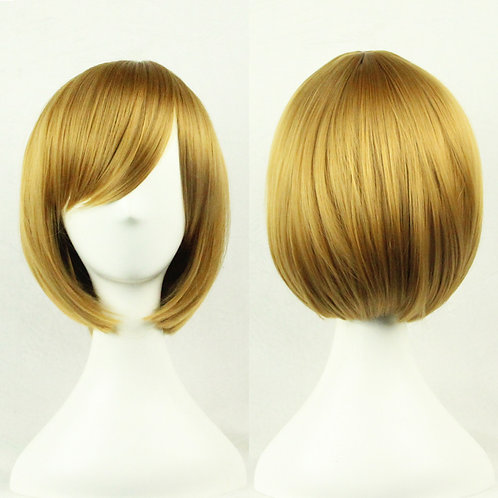 Brown Straight Wig Synthetic Short