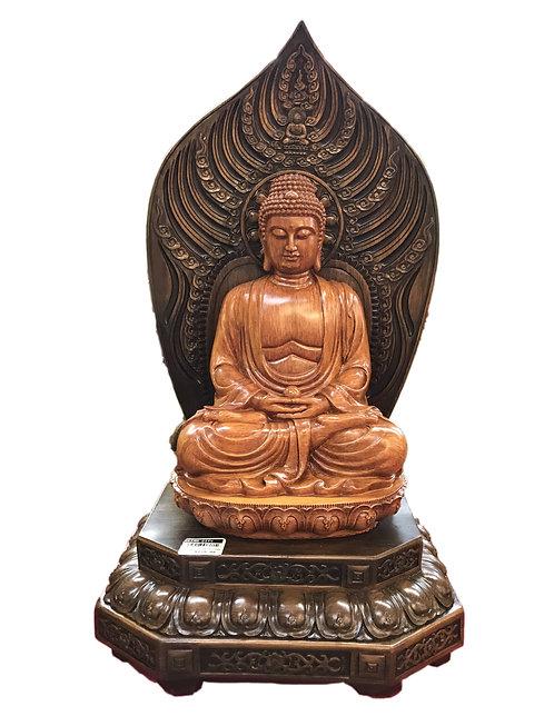 Giant Wooden Color Sichamoni Buddha
