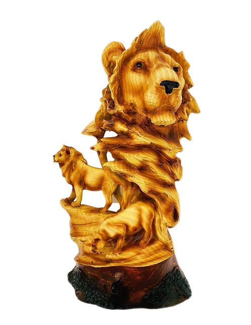 """12.25"""" Lion Scene Statue"""