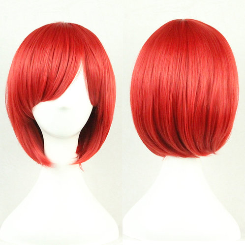 Red Straight Wig Synthetic Short