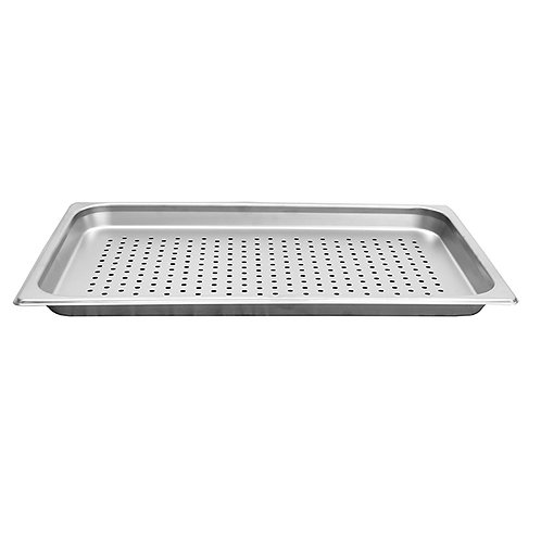 "Full Size, 1 1/4"" Deep Perforated, 24 Gauge, Steam Pans"