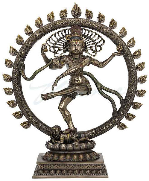 Brass Color Giant Shiva The Load Of Dance