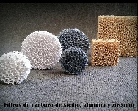 Filtros de espuma cerámica