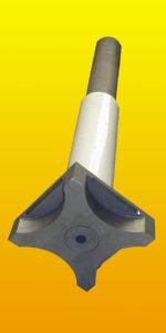 Flecha rotor de grafito para desgasificado de aluminio