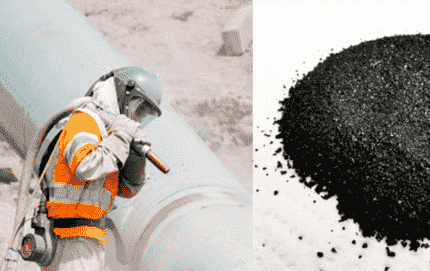 Escoria de cobre para sand blast