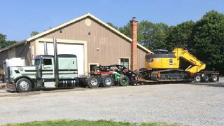 55 Ton Float with Single Axle Jeep