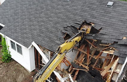Demolition of a residential home in southern Ontario