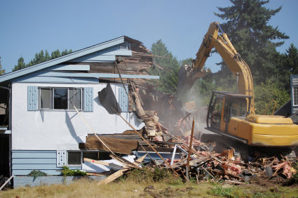 Demoliton of a home in Southern Ontario