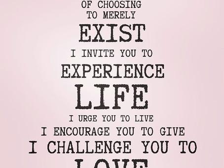I invite you to...