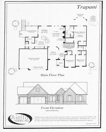 Trapani Floorplan_Aiello Homes
