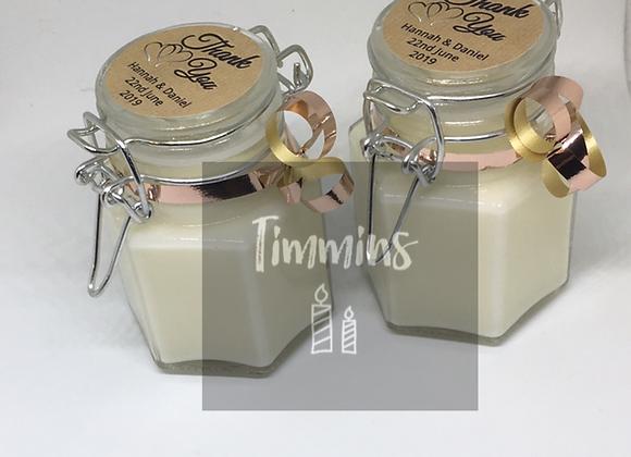 Hexagonal 100ml Favour Timmins Jars