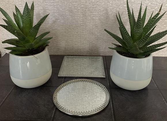 10cm Decorative Mirror Candle Plates