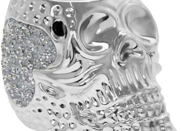 15cms Silver Skull Wax Melter