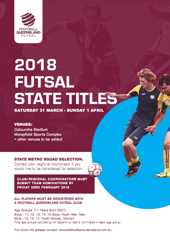 Futsal Queensland State Titles:  Trials