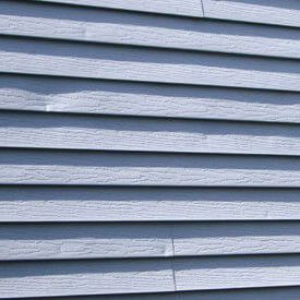 Hail damage to siding.