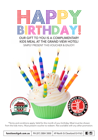 Happy Birthday Treat for Redlands United Kids!!!