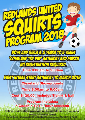 Under 5s Football - Squirts!!!   Come and try for FREE