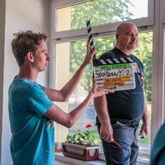 Honza Houdek jako klapka s Michalem Davidem